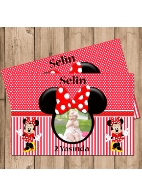 Minnie Mouse Temalı İnce Magnet